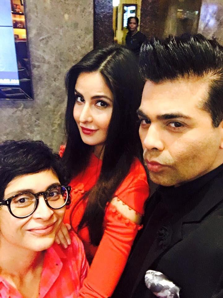 Katrina Kaif arrives at Jio MAMI with Star 2016 panel, Karan Johar and Kiran Rao join her for a selfie