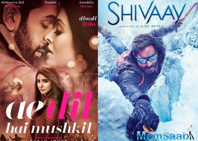Over the first three days, ADHM seemed to win the battle, but from the morning and afternoon collections of Shivaay on Monday, it has apparently done strong business.