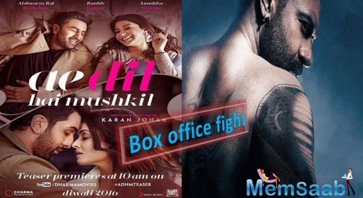While ADHM went strong in 75% of the A centre cities on Friday, on Monday Shivaay replaced ADHM gathering 75% of the A centre cities' collections. As per this trend, Shivaay is now ahead in the A centres.
