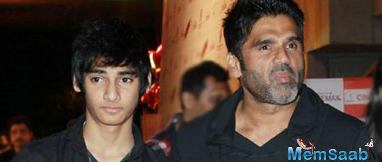 Suniel Shetty's son Ahan is all set to make a mark in the glamour industry.