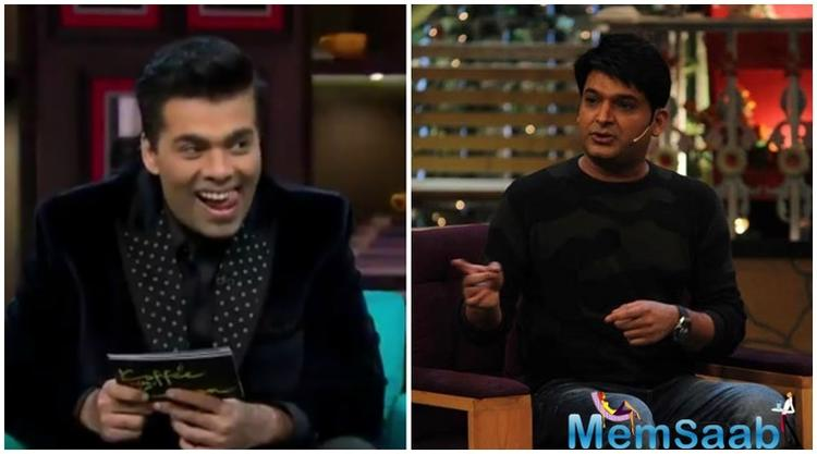 This will be the special to us to watching two perfect hosts of two different genres of talk shows, it will interesting to see, when Kapil Sharma will be facing Karan's questions.
