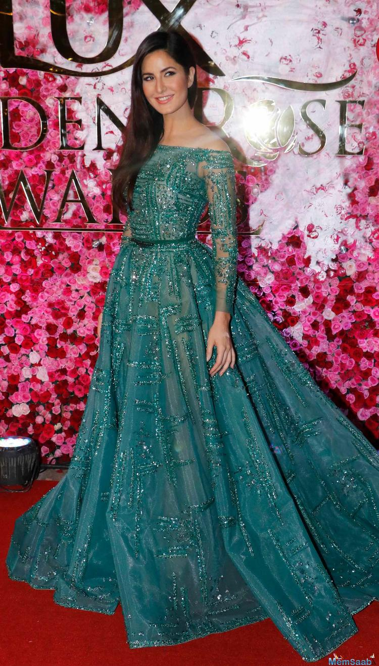 Katrina Kaif looked lovely in a lace gown.