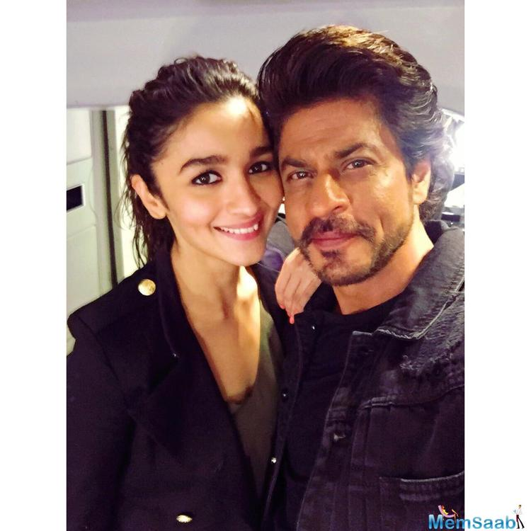 The previous posters featured both SRK and Alia, however, the new poster of the film, features only Alia.