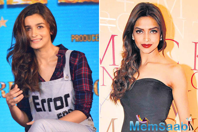 Alia visited the sets on Wednesday and she revealed in a media about Deepika Padukone.