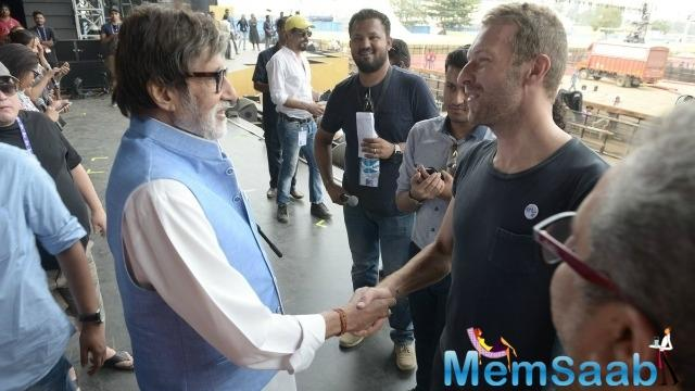 On Friday he shared a photograph of himself shaking hands with the British band Coldplay's frontman Chris Martin.