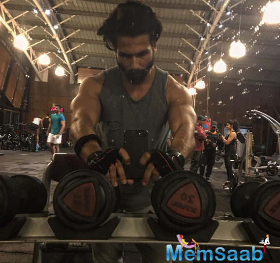 The actor who is currently shooting for SLB 'Padmavati' will be seen as the Rana of Mewar, Raja Rawal Ratan Singh shared his pictures from the gym and wrote,