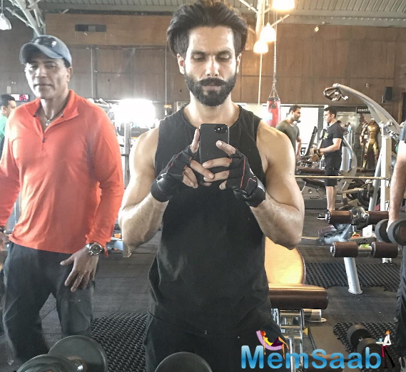 He also enjoys his workout selfies, showing a lean six-pack that leaves little to the imagination. On the work front, Shahid will also be seen Vishal Bharadwaj directorial 'Rangoon'.