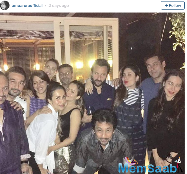 However, the one who had our attention was Salman Khan. Interestingly, this time Bebo was spotted partying with Salman Khan and his alleged Romanian girlfriend Iulia Vantur.