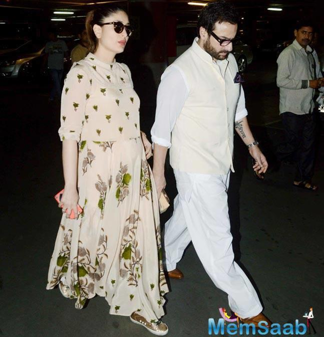 With just a couple of weeks away from welcoming her baby Kareena is not leaving a single opportunity to party with her gang