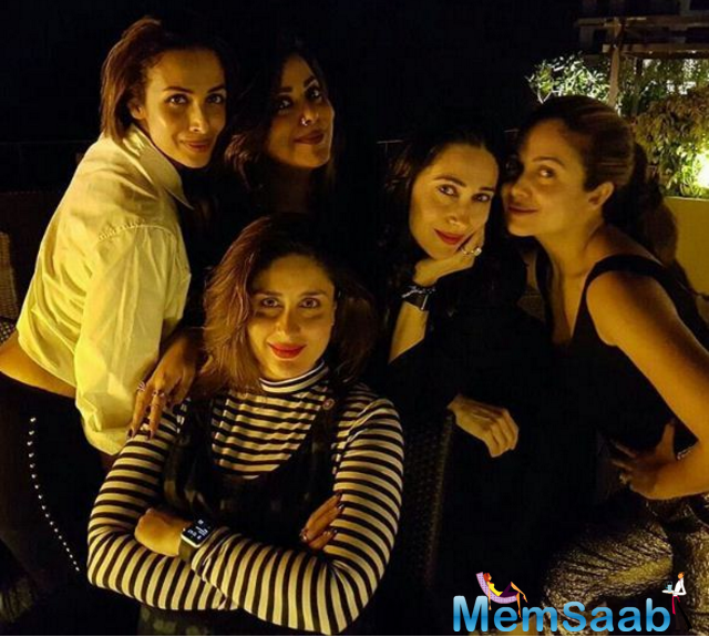 Kareena Kapoor Khan is due on December 20, as confirmed by father Randhir Kapoor. We just cannot thank Kareena 's bestie Amrita Arora for sharing pictures of Bebo partying with her Bajrangi Bhaijaan co-star Salman Khan.