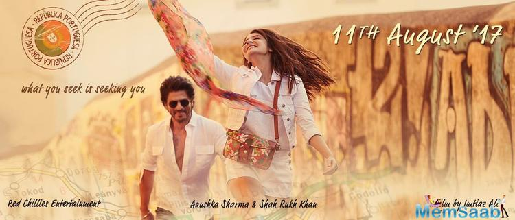 The upcoming movie is directed by Imtiaz Ali in which SRK and Anushka Sharma play the lead role.