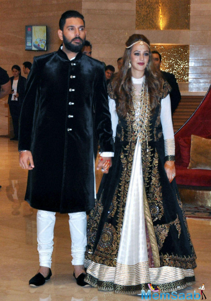 Yuvraj Singh and Hazel Keech's pre-wedding ceremony held in Mohali on Tuesday.