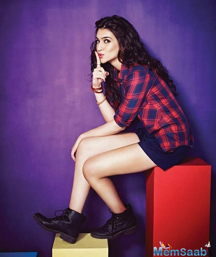 Kriti will be next seen in Dinesh Vijan's Raabta opposite Sushant Singh Rajput.For the first time the duo sharing screen space in Raabta.
