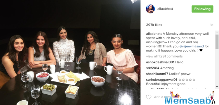 They seemed pretty friendly .The leading ladies of B-town gathered for Rajeev Masand's year-ending show 'Actress Roundtable 2016.'