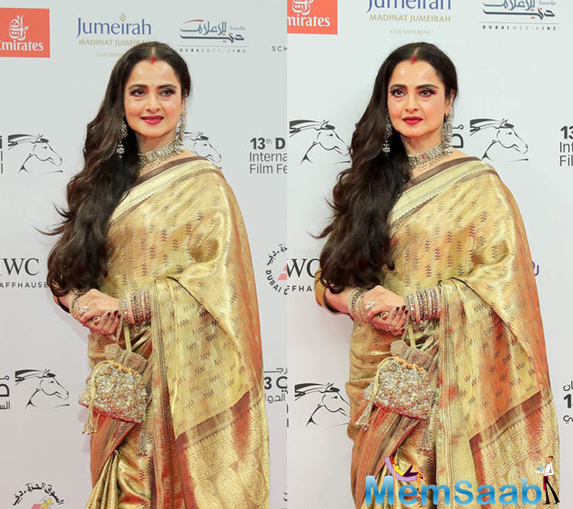 Rekha is acknowledged as one of the finest actresses. The actor Tyrese Gibson who was also present at the event shared a picture with Rekha on Instagram praising her contribution to the Indian cinema so far.