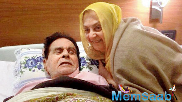 Veteran scriptwriter  Javed Akhtar visited veteran Bollywood star Dilip Kumar at the Lilavati Hospital and Research Centre in Mumbai.