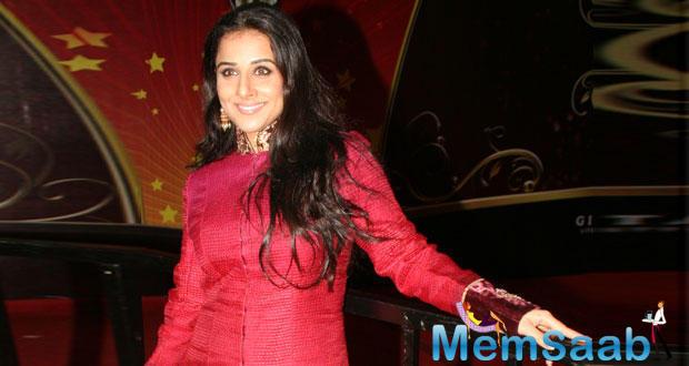 Vidya, who was recently seen on the big screen in Sujoy Ghosh