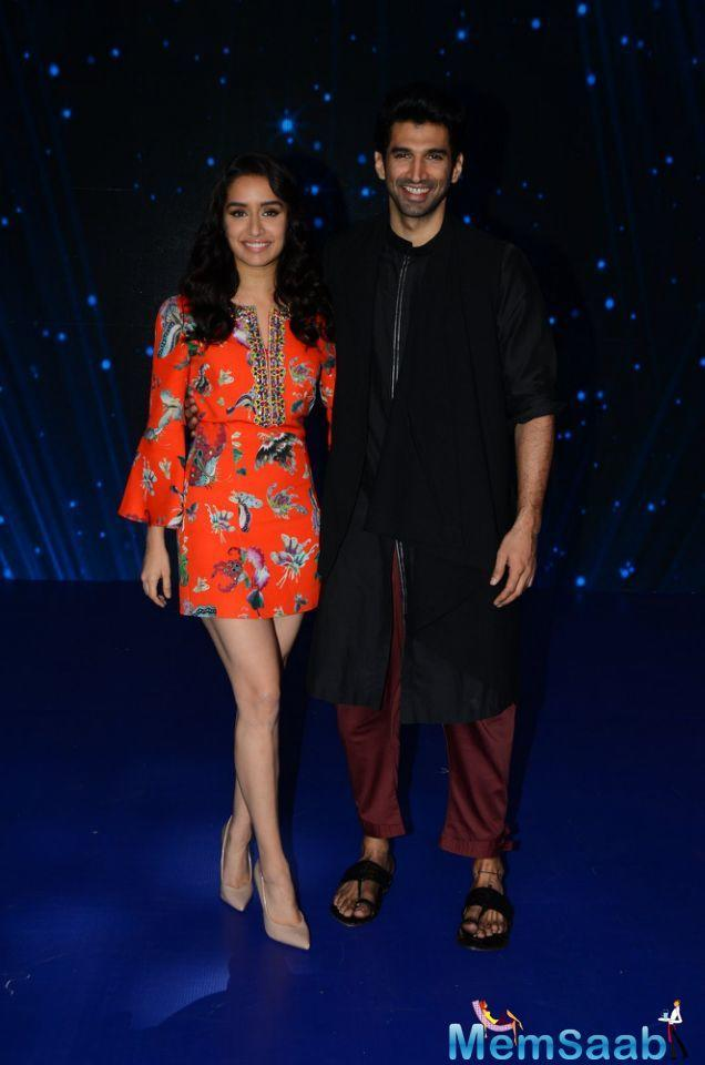 Shraddha and Aditya are like made for each other. On screen and off screen. The duo reached the sets of singing reality show Indian Idol for the promotion of their upcoming flick OK Jaanu.