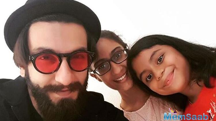 Bollywood heartthrob Ranveer Singh recently posed with successful single mother Sushmita Sen's daughters Renee and Alisah