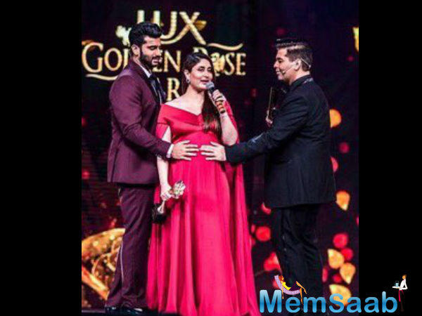 At the Lux Golden Rose Petal Awards,  the host of the function, Arjun Kapoor asked the lady when would her fans get to see her back on-screen.