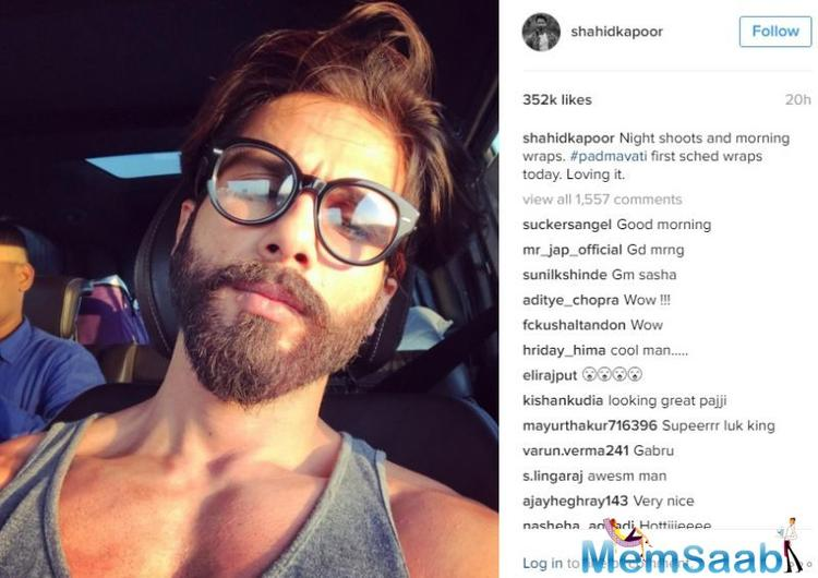 The actor took to his Instagram account to share another piece of information with a hot selfie and wrote alongside,