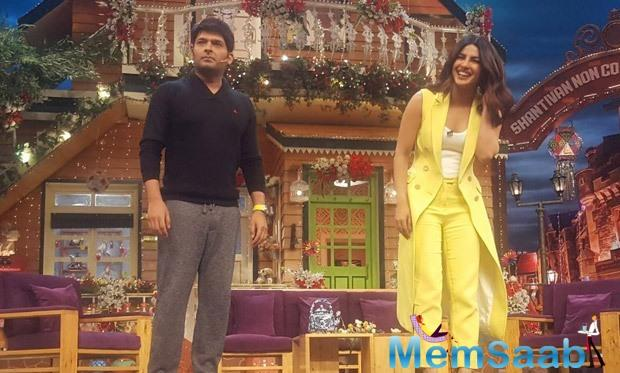 After her coming back to India, The actress was shooting for a special episode of The Kapil Sharma Show yesterday.