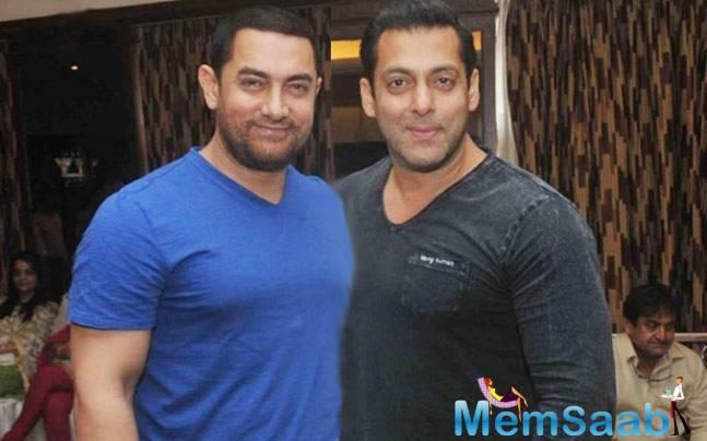 """Further, Aamir twitted, """"@BeingSalmanKhan Sallu, in your"""
