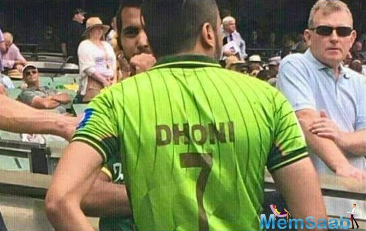 He wore it during the Australia-Pakistan Test at Melbourne Cricket Ground.