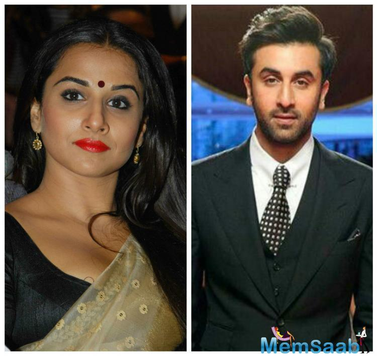 Vidya and Ranbir sure will be an interesting combination to see on screen. We just hope that someday someone will sign both of them for a movie.