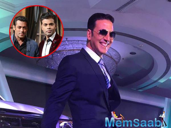 Two days before there was a news in the air that Akshay Kumar and Salman and Karan Johar  teaming up for a film.