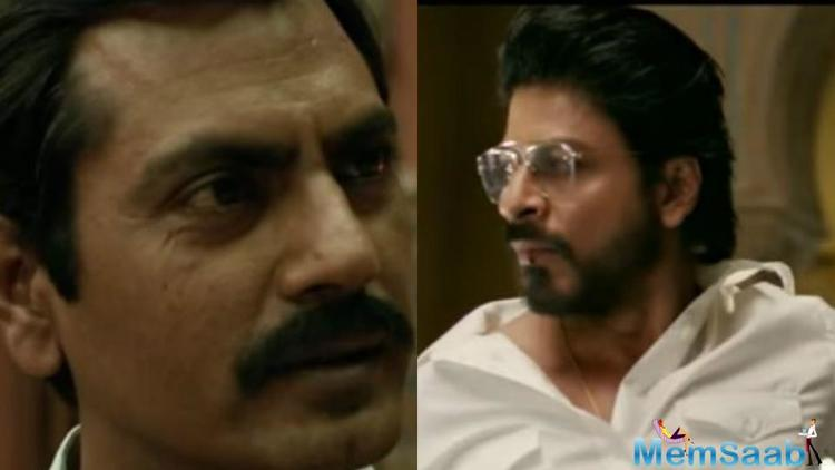 SRK's upcoming drama and action flick Raees are some dhamakedaar dialogues.