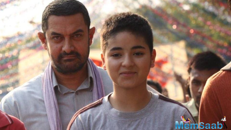 Aamir took to Twitter to say that Zaira, who played the role of young Geeta Phogat in