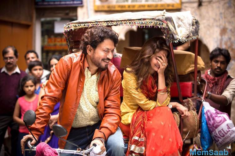 From the poster of Hindi Medium, it seems that the film deals with the education system in India.