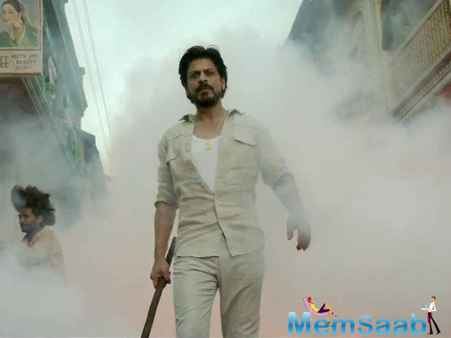 His voice: Shah Rukh's baritone makes us feel the chills.It's completely in sync with his character -that of a notorious don.