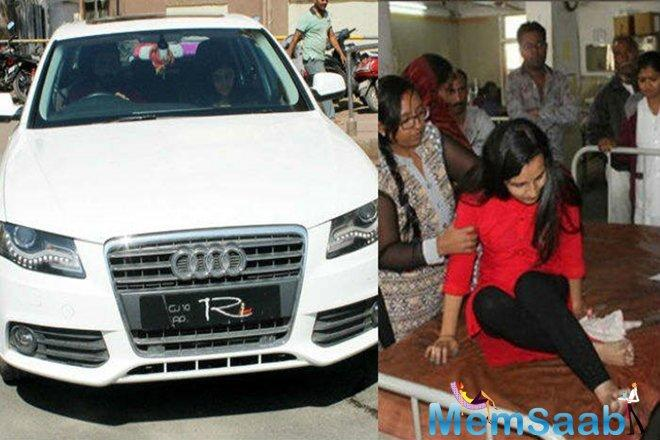 But immediately, Jadeja took the girl to a nearby hospital for treatment. She has sustained minor injuries.