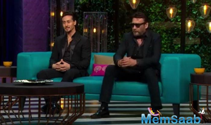 Father-son duo, Jackie Shroff and Tiger Shroff put up a great show on Karan Johar's 'Koffee with Karan'.