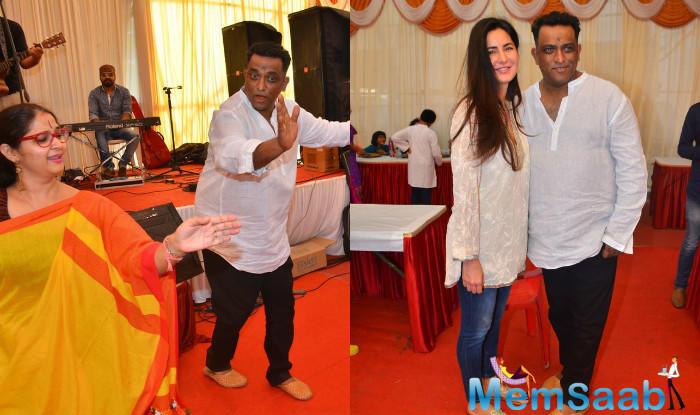 Katrina Kaif, Aditi Rao Hydari, Sakshi Tanwar and Puja Banerjee attended director Anurag Basu's Saraswati Puja celebrations which were organized at his Goregaon residence.