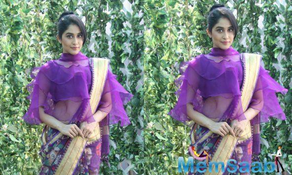 Regina Cassandra was the showstopper for Hyderabad-based designer Sailesh Singhania at the ongoing Lakme Fashion Week in Mumbai on Thursday.