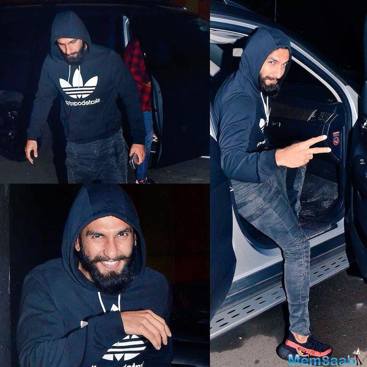 The bearded look of Ranveer is for his role as Mughal ruler Alauddin Khilji in the movie.