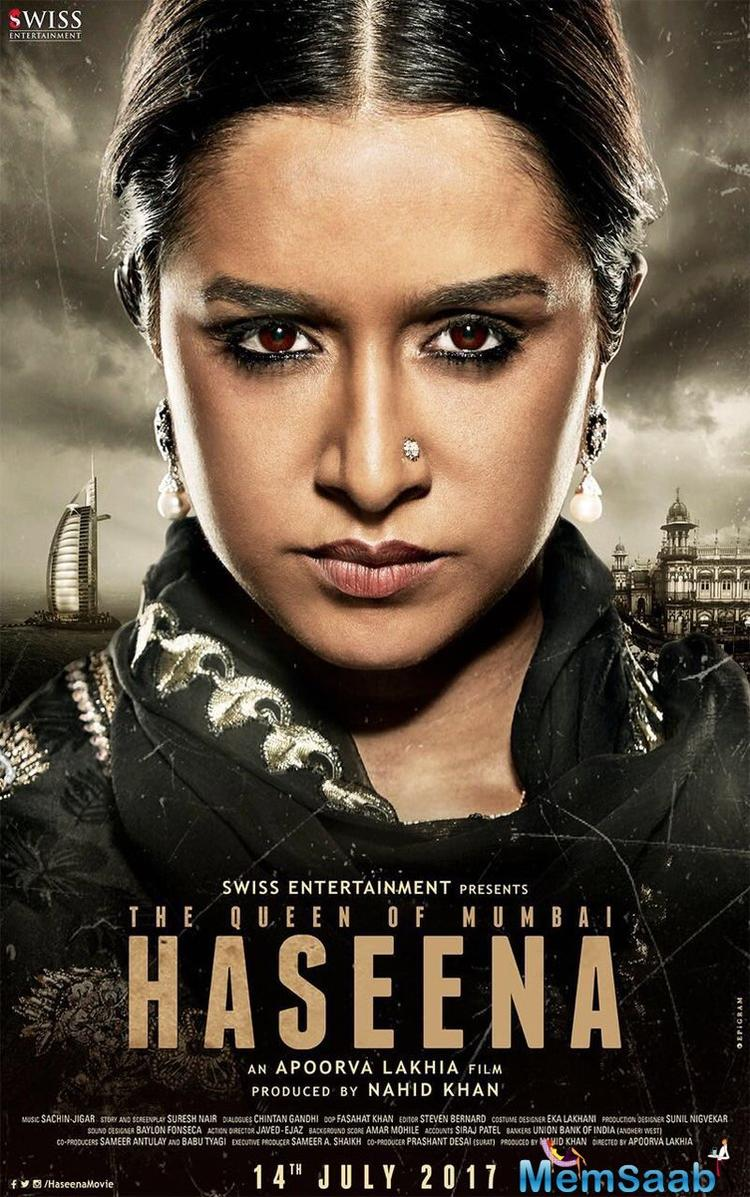 Shraddha is dressed in a dark suit and the emphasis is on her kohl-eyes. Director Apoorva Lakhia shared the same poster and captioned it:
