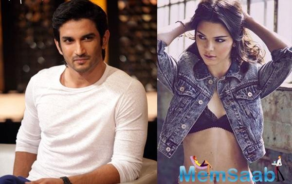 Sushant Singh Rajput recently teamed up with American Fashion model   Kendall Jenner for a magazine shoot in Jaipur.