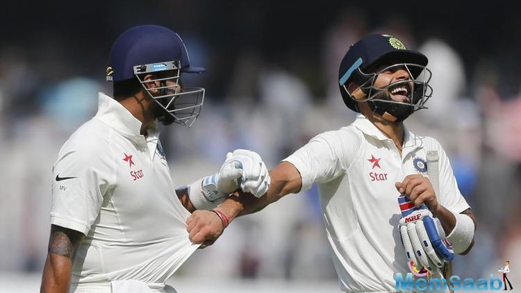 The platform was set when in-form Pujara and Vijay added 178 runs for the second wicket.