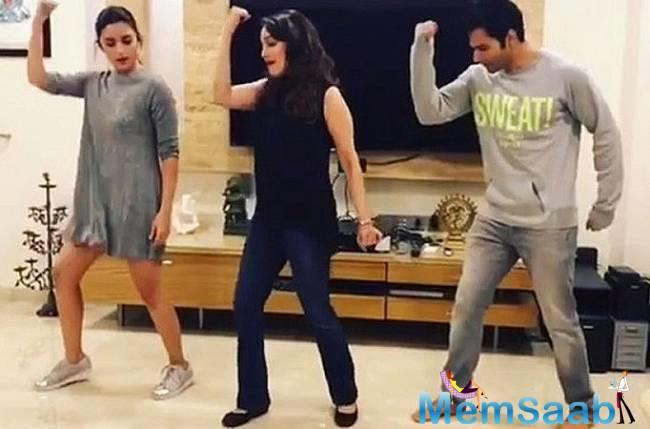 On Friday, Alia took to Twitter, where she shared a video of herself dancing with Varun to the song.