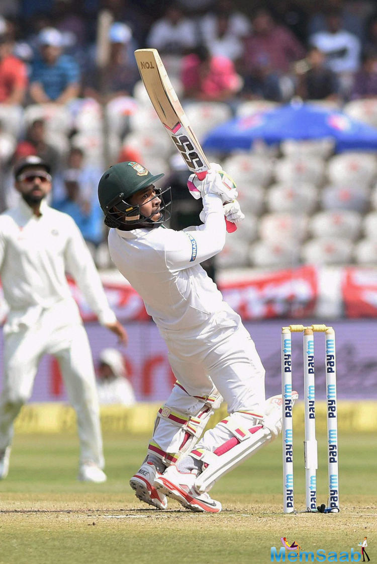 Mushfiqur becomes the fourth Bangladeshi cricketer to score 3000 Test runs while Mehedi Hasan brings up his maiden Test fifty.