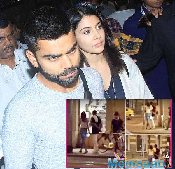 When Anushka and Virat walked hand-in-hand during Malnish Malhotra's birthday party, we just couldn't help but be delighted to see them together.