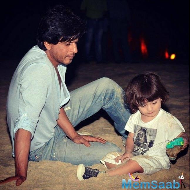 Shah Rukh Khan and his younger son Abram are inseparable.