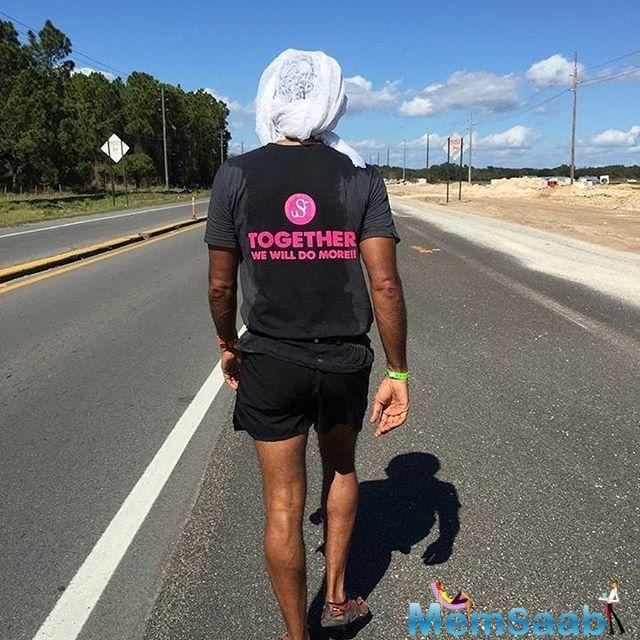The actor-model-fitness promoter completed the Florida Ultraman marathon over the course of three days.