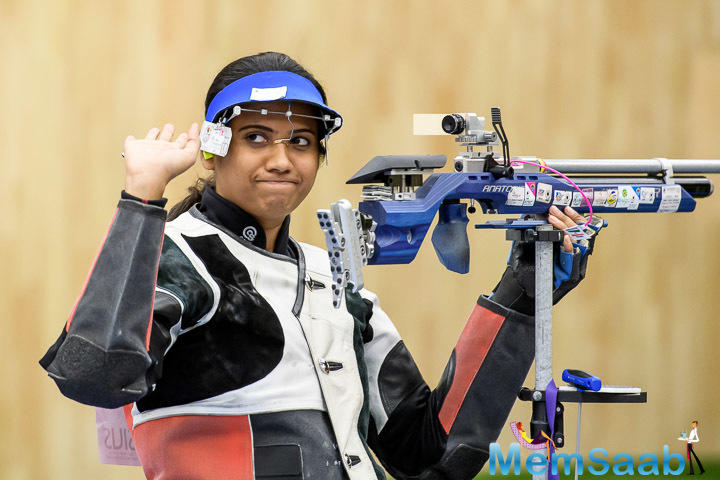 Pooja Ghatkar overcame technical issues to locate for the 10m air rifle bronze as hosts India opened their account on a positive note in the International Shooting Sport Federation World Cup.