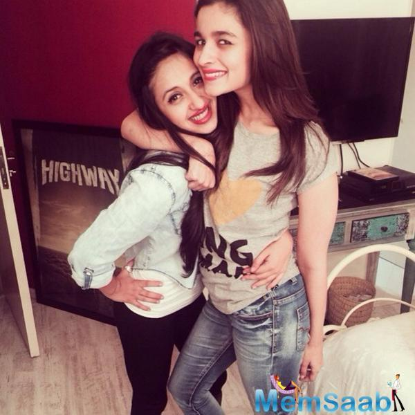 Alia friend, Akansha's extended family lives in LA and she keeps flying there often.