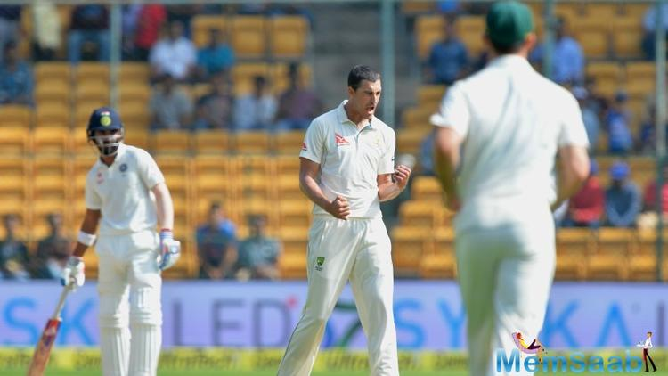 Abhinav Mukund, who was making a comeback to the Indian team after a gap of five and half years, did not trouble the scorers after getting out LBW off Mitchell Starc's bowling.